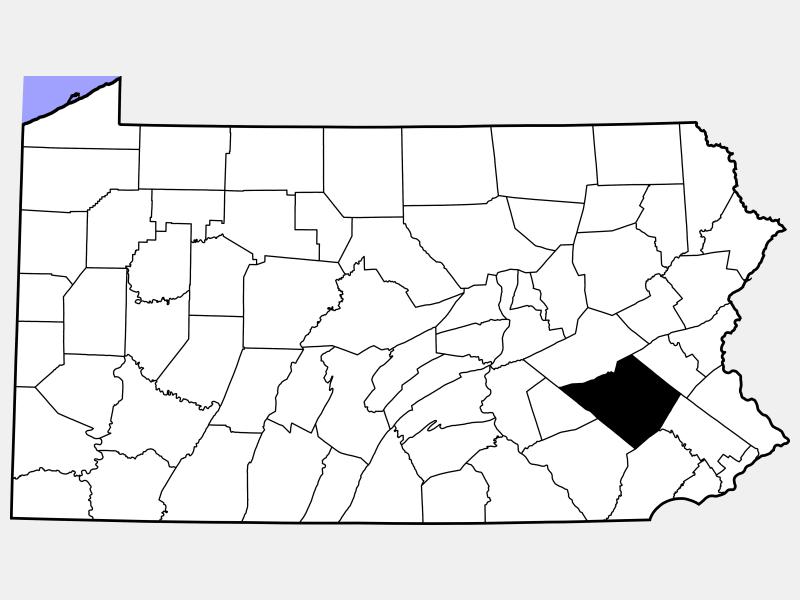 Berks County locator map