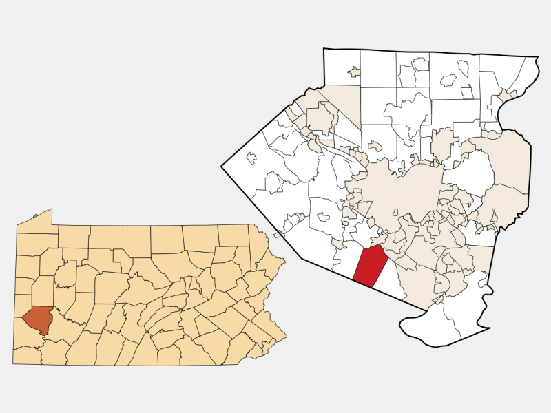Bethel Park locator map
