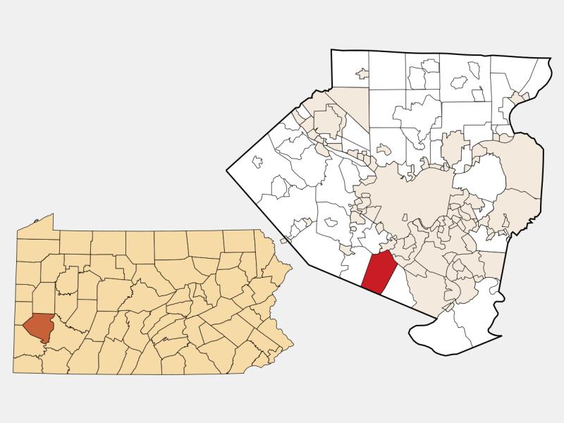 Municipality of Bethel Park locator map
