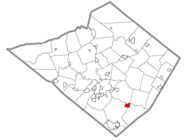 Birdsboro locator map