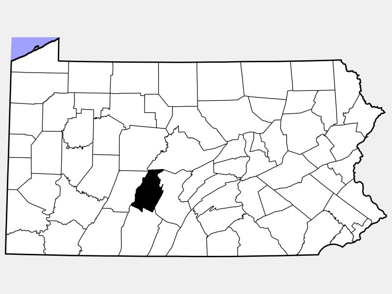 Blair County locator map