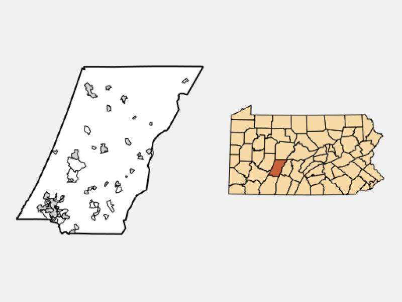 Brownstown locator map