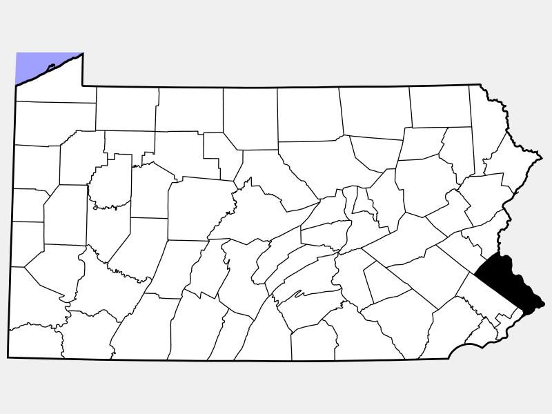 Bucks County locator map