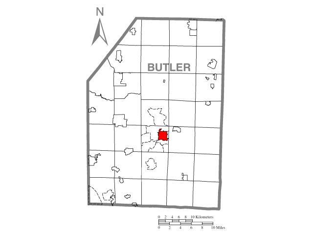 Butler locator map