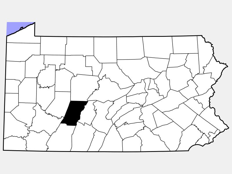Cambria County locator map