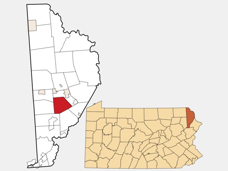 Cherry Ridge location map