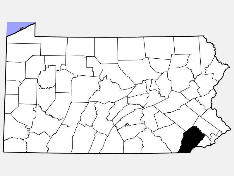 Chester County locator map
