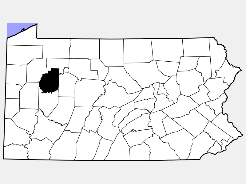 Clarion County locator map
