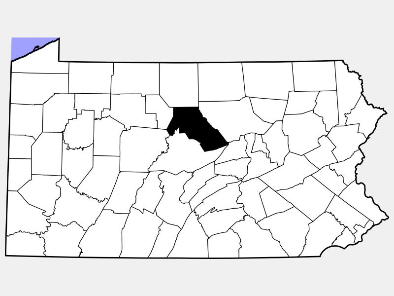 Clinton County locator map