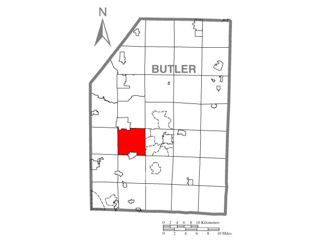 Connoquenessing locator map