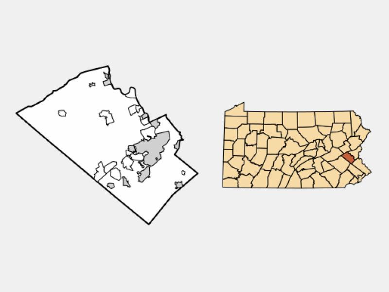 Coopersburg locator map