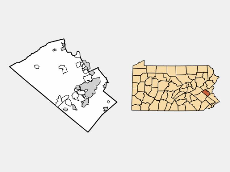 Coplay locator map