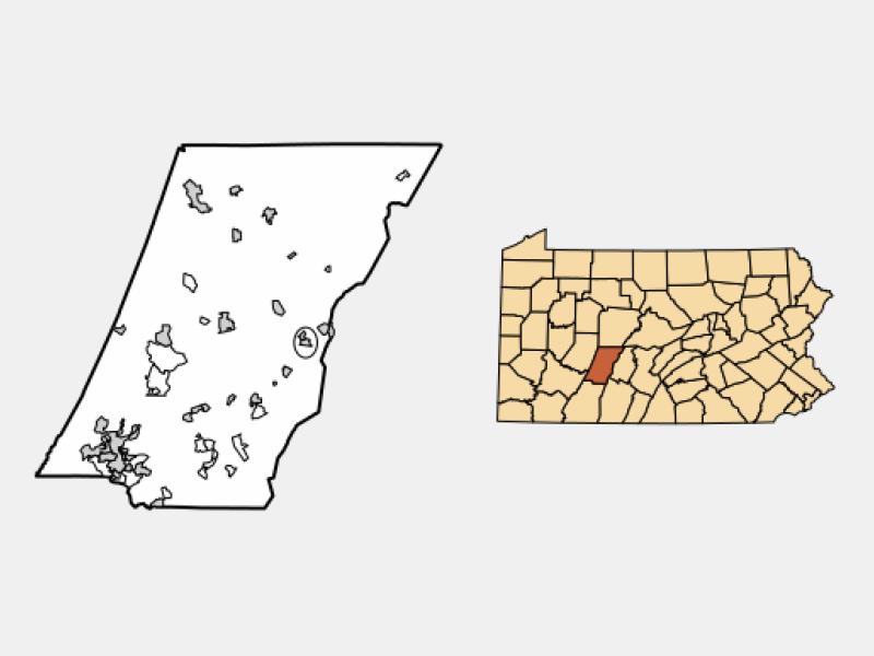 Cresson locator map