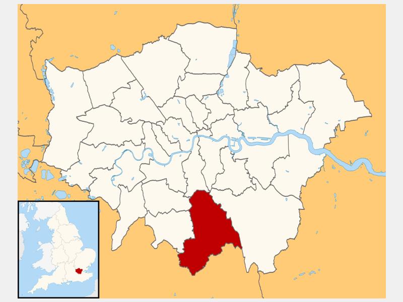 Croydon locator map