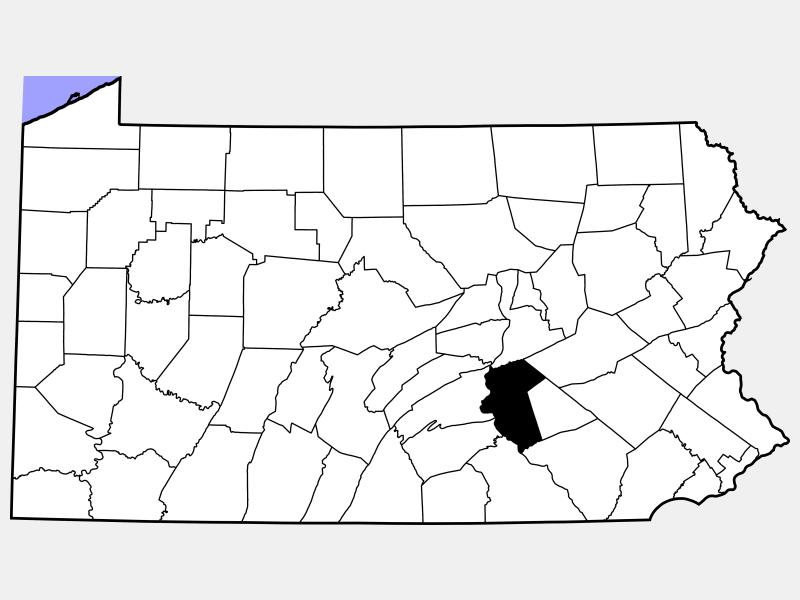Dauphin County locator map