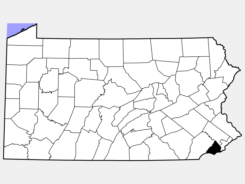 Delaware County locator map