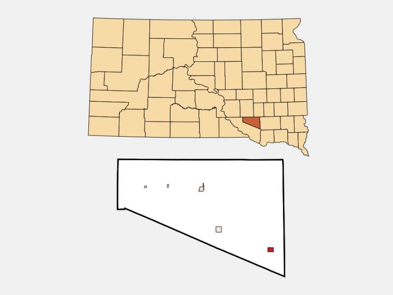Delmont locator map