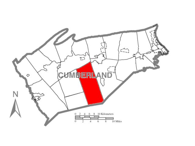 Dickinson locator map
