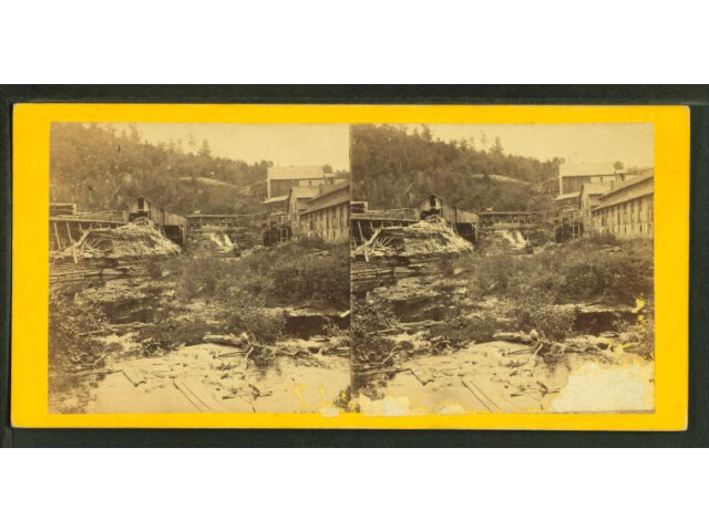 The Tannery Falls on the Dyberry River  from Robert N. Dennis collection of stereoscopic views image