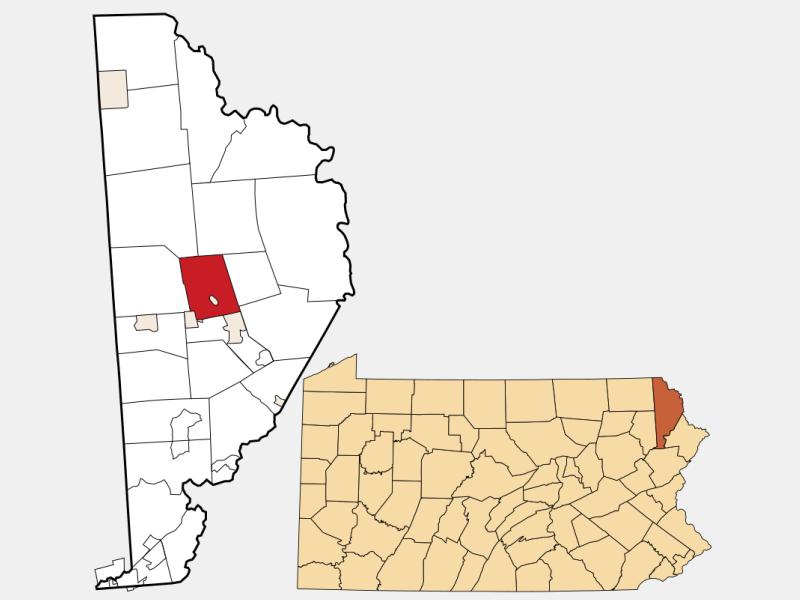 Dyberry locator map