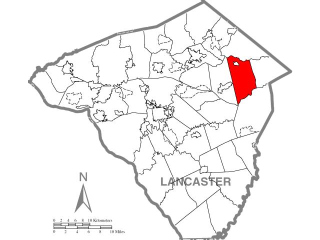 East Earl locator map