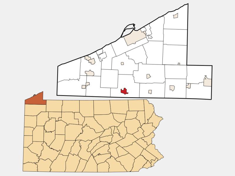 Edinboro locator map