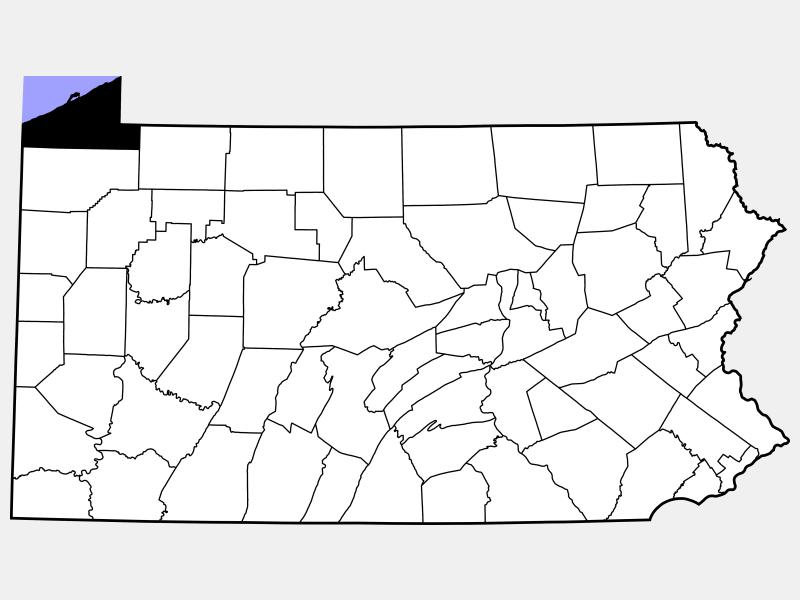Erie County locator map