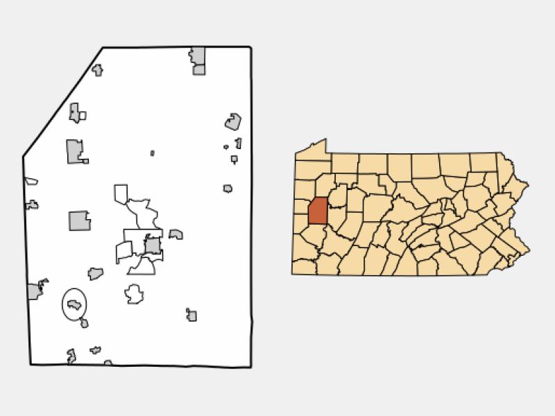 Evans City locator map