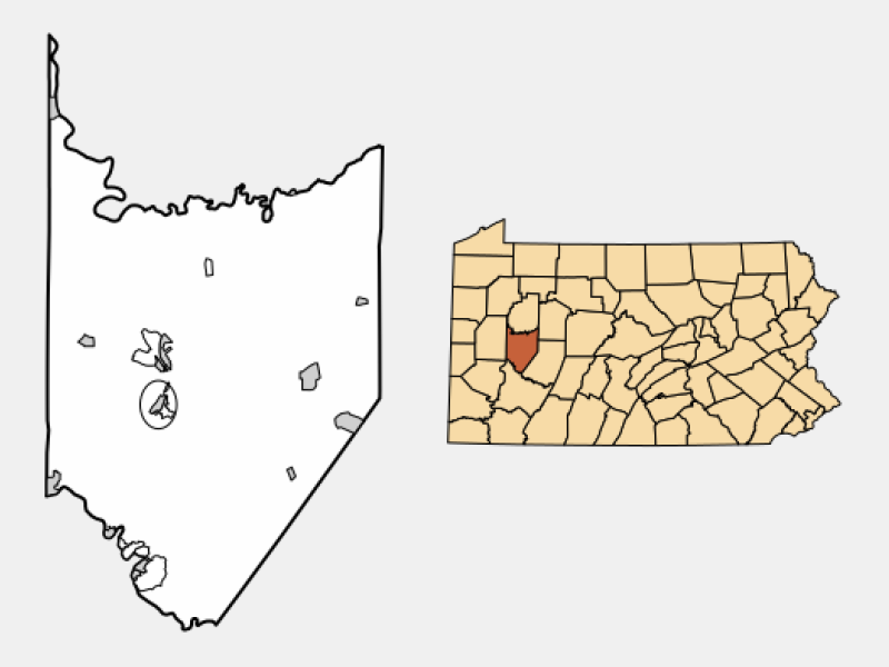 Ford City locator map