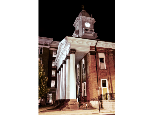 Franklin County Courthouse at Night image