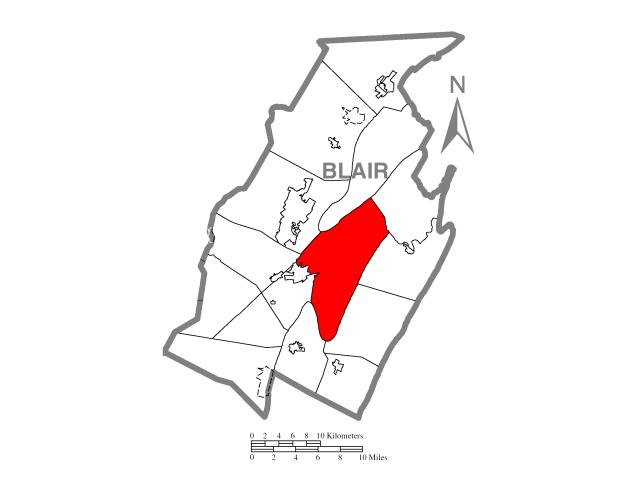 Frankstown locator map