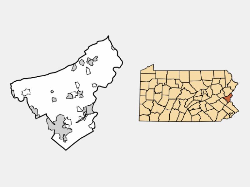 Freemansburg locator map