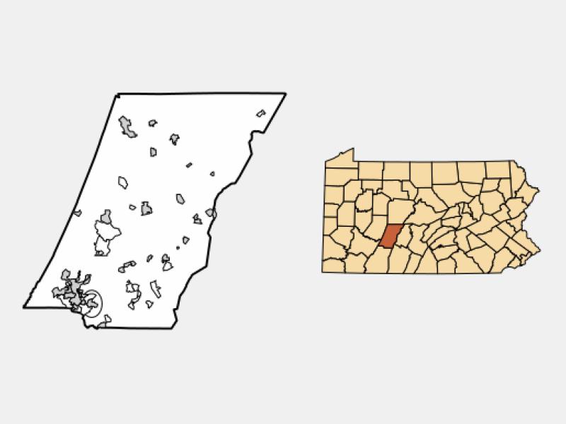 Geistown location map