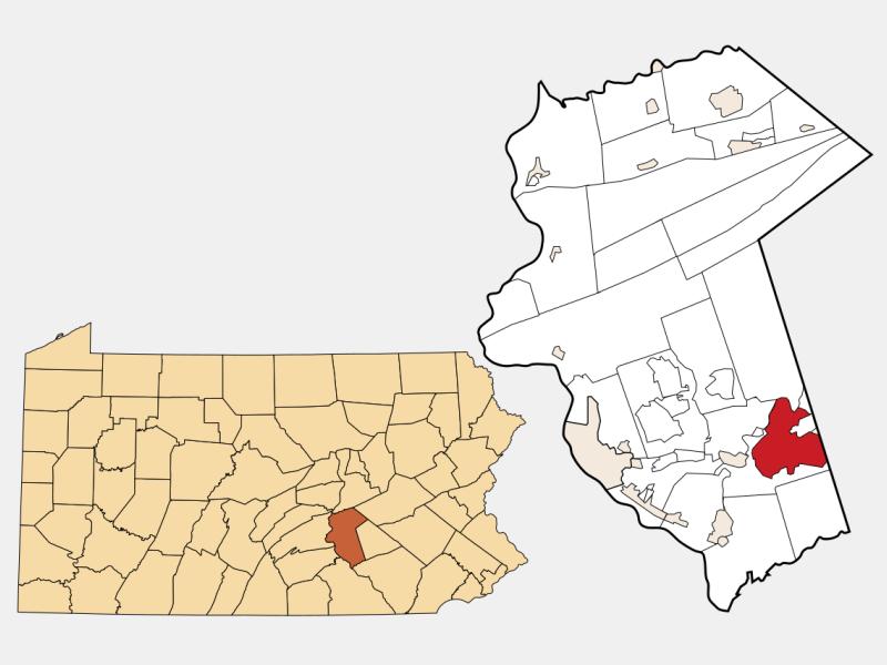 Hershey locator map
