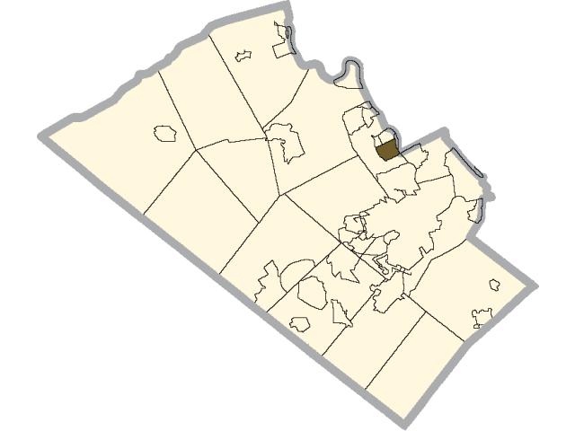 Hokendauqua location map