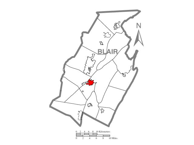 Hollidaysburg locator map