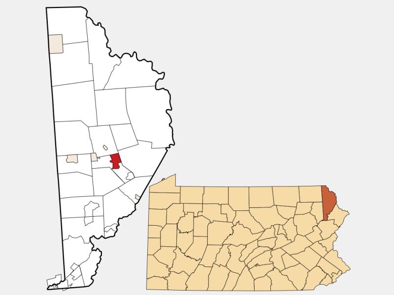 Honesdale locator map