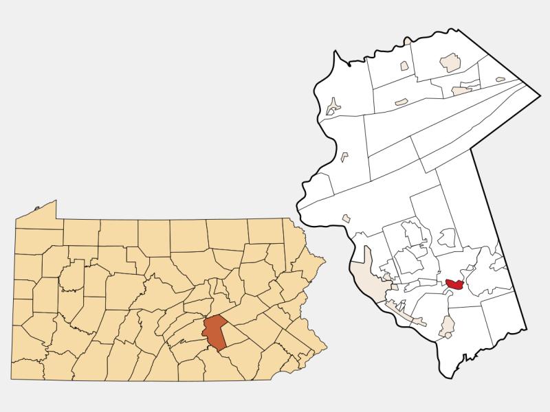 Hummelstown locator map