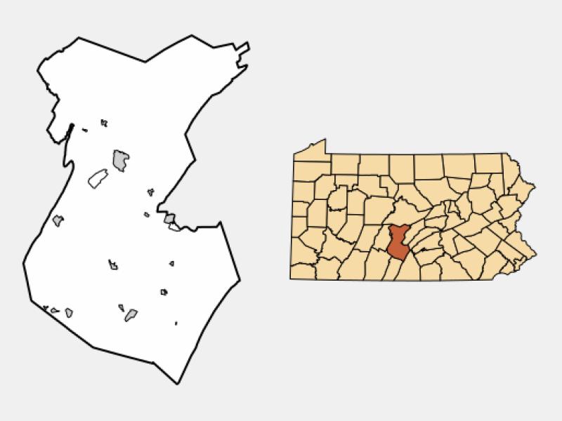 Huntingdon locator map