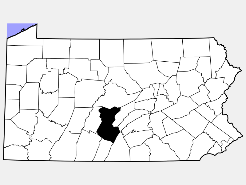 Huntingdon County location map