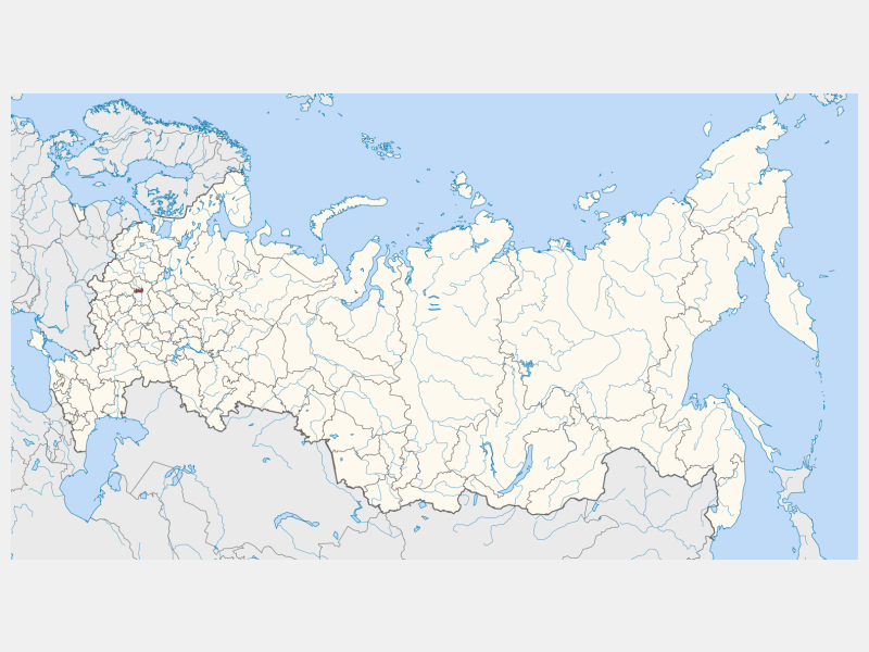 Moscow locator map