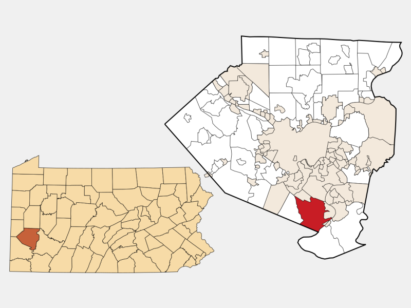 Jefferson Hills locator map