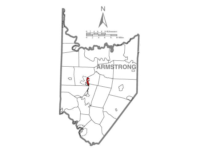 Kittanning locator map