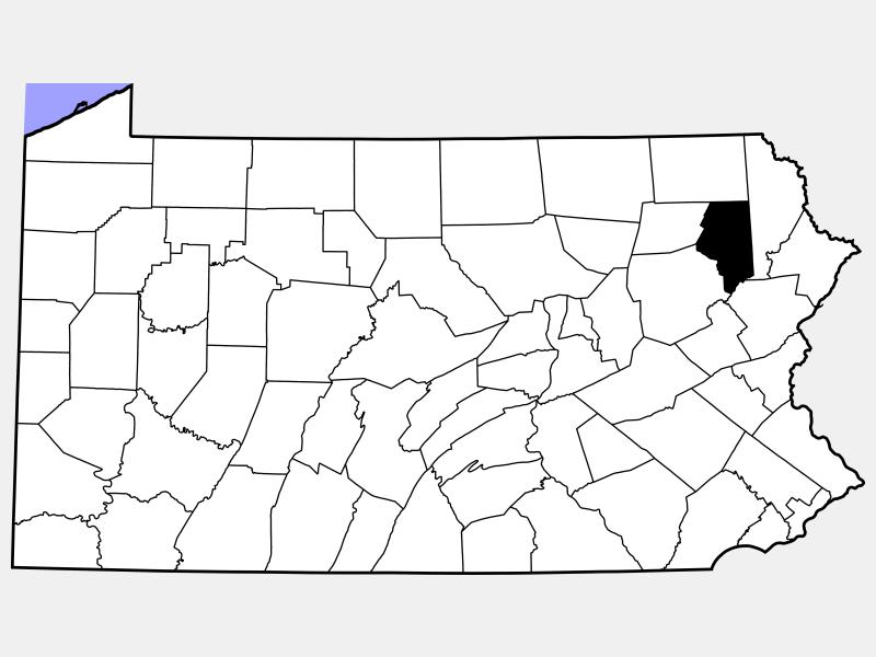 Lackawanna County locator map