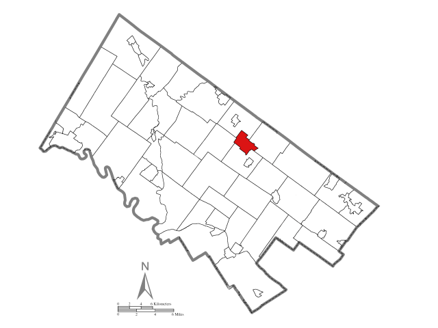 Lansdale locator map