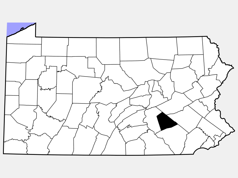Lebanon County locator map
