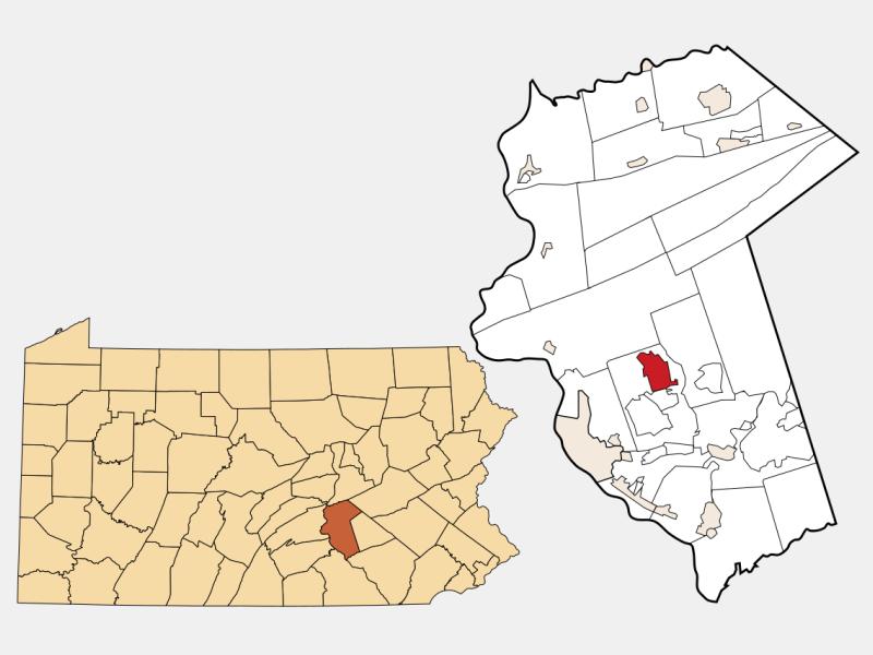 Linglestown locator map
