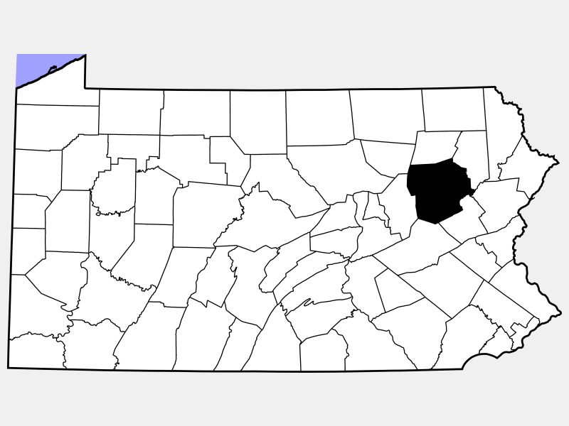 Luzerne County locator map