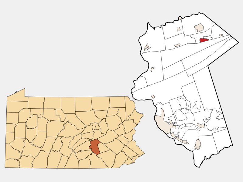Lykens locator map