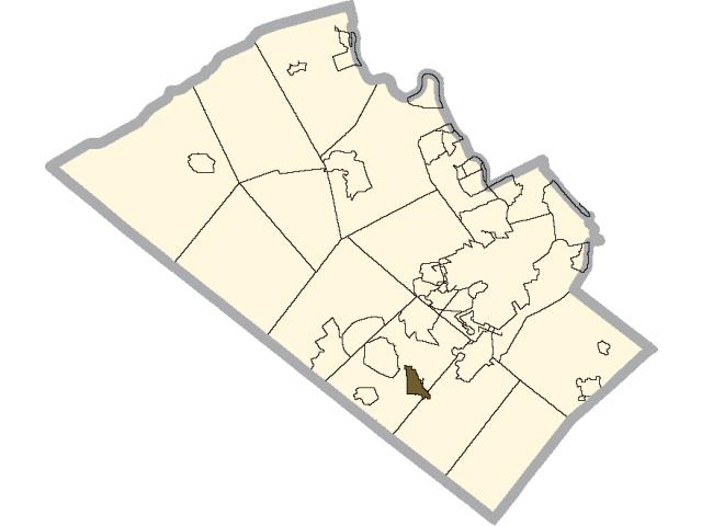 Macungie locator map